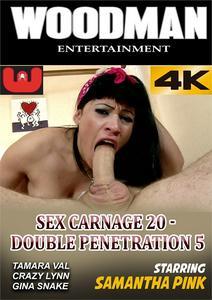 Sex Carnage 20 / Секс Бойня 20 (Woodman Entertainment) [2018 г., Anal, Big Boobs, Creampie, Double Penetration, Facial Cumshot, Lingerie, Outdoor, Threesome, 540p, WEB-DL](Split Scenes)