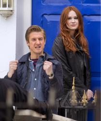 Карен Гиллан, фото 140. Karen Gillan - On The Set Of Doctor Who In Cardiff - 4/5/12, foto 140