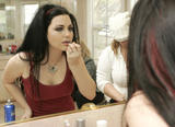 Amy Lee plays with her pussy and tries on makeup/clothes x14